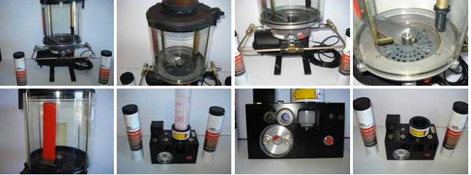 Collage of Chisel Paste and Lube Machine