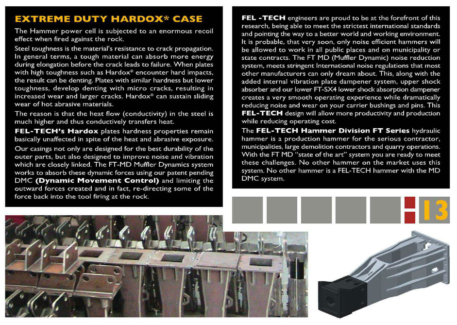 Hardox Case Page from Brochure