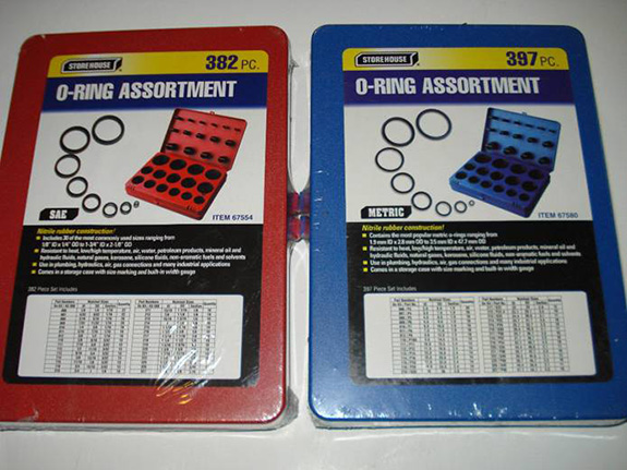 Red and Blue O-Ring Sets